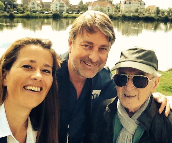 Selfie met Charles Aznavour en Henk Van Cauwenbergh