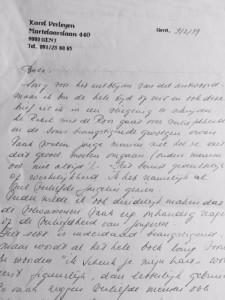 Brief Karel Verleyenr